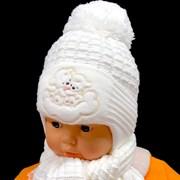 Прикиндер комплект UK1-1235 шапка с утеплителем + шарф (р.42-44)