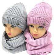 LVG комплект шапка подклад хлопок + снуд (р.54-56)