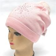 Malliani мод. OK/15-99 шапка вязка на утеплителе (р.52-54)