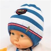 HATS HOUSE шапка вязка на х/б подкл. (р.44-46)
