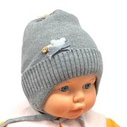 HATS HOUSE шапка вязка на х/б подкл. (р.42-44)
