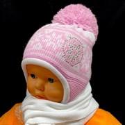 Magrof комплект mg 876 шапка подкл.флис+шарф (р.44-46)