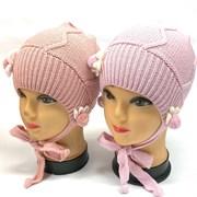 Aguti  шапка для девочки с завязками один.вязк. размер (48-50)