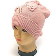 aguti шапка  одинарн.вязк (р.52-54) розовая
