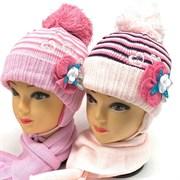 Magrof комплект mg 886 шапка подкл.флис+шарф (р.46,50-52)