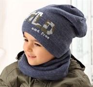 .AJS комплект 38-522 шапка двухсторонняя+снуд (р.52-54)