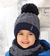 .AJS комплект 38-531 шапка подкл.флис+снуд (р.52-54)