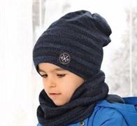 .AJS комплект 38-542 шапка двухсторонняя + снуд (р.54-56)