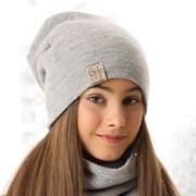 .AJS комплект 38-573 шапка двухсторонняя+снуд (р.54-56)