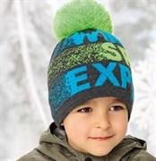 .AJS шапка 38-529 шапка подкл.флис (р.52-54)