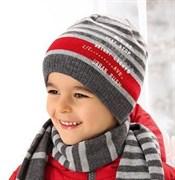 .AJS комплект 38-521 шапка для мальчика +шарф подклад флис (р.50-52)