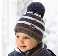 .AJS комплект 38-481 шапка подкл.флис+снуд (р.48-50)