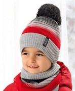 .AJS комплект 38-523 шапка подкл.флис+снуд (р.52-54)