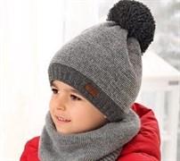 .AJS шапка 38-539 шапка подкл.флис (р.50-52)