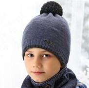 .AJS шапка 38-593 шапка подкл.флис (р.52-54)