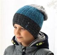 .AJS шапка 38-594 шапка двойная вязка (р.52-54)