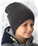 .AJS комплект 38-590 шапка для мальчика двухсторонняя + снуд (р.52-54)