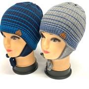 GRANS шапка Ku 416 одинарная вязка подкл.хлопок (р.50-52)
