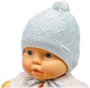 GRANS шапка N 152 одинарная вязка подкл.хлопок (р.38-40)