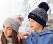 .AJS шапка 38-574 шапка подкл.флис (р.52-54)мальчик