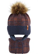 AGBO комплект 2294 Nadir шапка подклад флис+снуд (р.50-52)