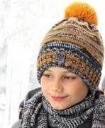 .AJS комплект 38-547 шапка подкл.флис+шарф (р.52-54)