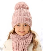 .AJS комплект 38-493 шапка подкл.флис +шарф (р.50-52)