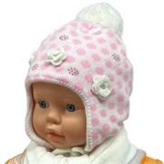 ambra комплект шапка на флисе + шарф (р.44-46)