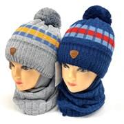 AGBO комплект 2178 Parker шапка с утеплит.+снуд (р.48-50)