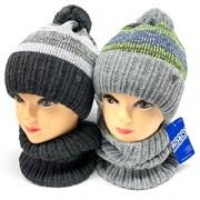 AGBO комплект 2402 Gomez шапка на флисе +cнуд (р.50-52)