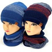 AGBO комплект 2104 Tewor шапка на флисе+снуд (р.48-50)