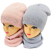 AGBO комплект 2302 Manta шапка на флисе + снуд (р.52-54)