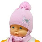 GRANS комплект A 904ST шапка с утепл. + шарф (р.40-42)