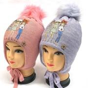 BEBY BOOM модель 9357 шапка с утеплителем подкл.хлопок (р.52-54)