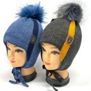 BEBY BOOM модель 9361 шапка с утеплителем подкл.хлопок (р.50-52)