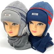 AGBO комплект 1375 TOLEDO шапка с утепл.+шарф (р.50-52)