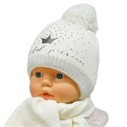 GRANS комплект A 929ST шапка с утепл. + шарф (р.42-44)