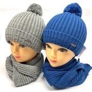 Grans комплект A 763 ST шапка с утеплит.+шарф (р.50-52)