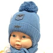 LVG модель 2892 шапка с утеплителем+шарф (р.40-42)