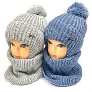 комплект шапка с утеплителем подкл.хлопок+снуд (р.52-54)