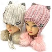 ARRIAZ шапка-ушанка с утеплителем подкл.хлопок (р.50-52)