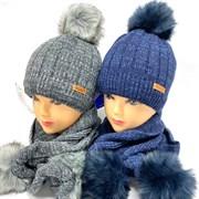 AGBO комплект 2279 Tarpan  шапка подкл.флис + шарф (р.50-52)