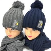 Barbaras комплект AV 941/MA шапка двойная вязка (р54-56) +шарф
