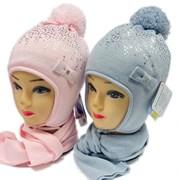 GRANS комплект AM 82 STM шапка с утепл. + шарф (р.50-52)