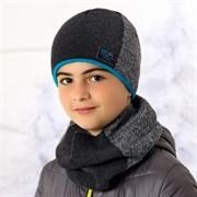 .AJS комплект 36-457 шапка подкл.флис+снуд (р.52-54)