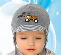.AJS шапка с козырьком 40-057M двойной трикотаж (р.48-50)