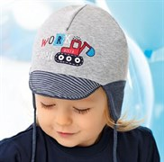 .AJS шапка с козырьком 40-055XS двойной трикотаж (р.40-42)