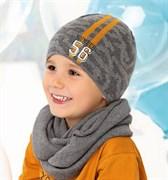 .AJS шапка 40-208 одинарная вязка (р.50-52)