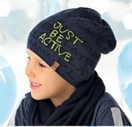 .AJS шапка  40-210 одинарная вязка (р.52-54)