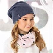 .AJS комплект 40-086L шапка двухсторонняя двойной трикотаж + снуд (р.52-54)